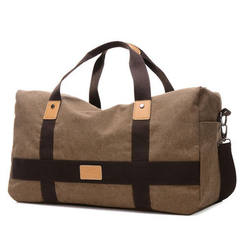Travel Duffle Large Capacity Mens Travel Bags Canvas Patchwork Men Bags European Style Bags