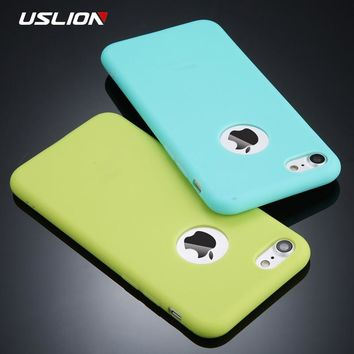 USLION Candy Color Phone Case For iPhone 7 Plus XS XR XS Max Sof d21d6909c