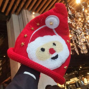 DCCKVQ8 Santa Claus Hat Thickened Cute Christmas Knit Hat Winter Accessories