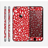 The Red Floral Sprout Skin for the Apple iPhone 6