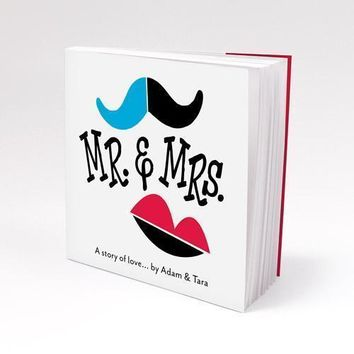 Notepad Favor with Personalized Mr. & Mrs. - A Story of Love Cover Caribbean Blue (Pack of 1)