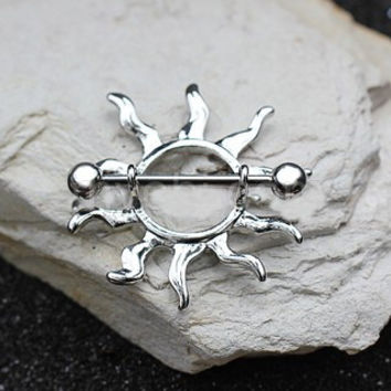 316L Stainless Steel Tribal Sun Nipple Shield