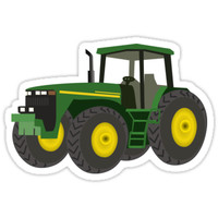 'Green Farming Tractor' Sticker by tshirtdesign