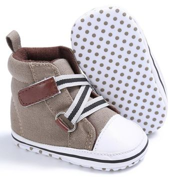 New Infant Toddler Newborn Baby Shoes Kids Classic Sports Sneakers Baby Soft Bottom Anti-slip T-tied Shoes