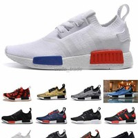 Newest NMD Running Shoes For Women & Men,NMD Runner Primeknit Black Red Blue Sports Sh