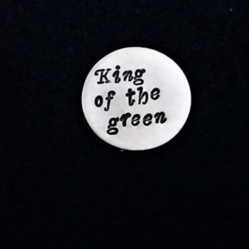 Personalized Golf Ball Marker Custom Golf Marker, Father's day gift for him King of the green, golfing brother, husband gift handstamped