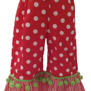Christmas Ruffle Polka Dot pants