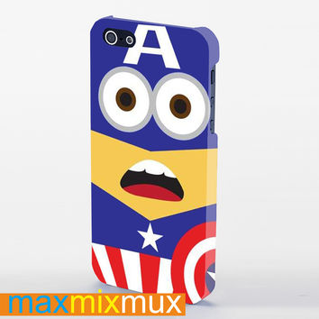 Despicable Me Captain America Minion iPhone 4/4S, 5/5S, 5C Series Full Wrap Case