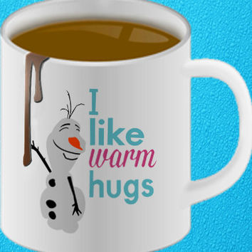 frozen olaf quote mug heppy coffee.