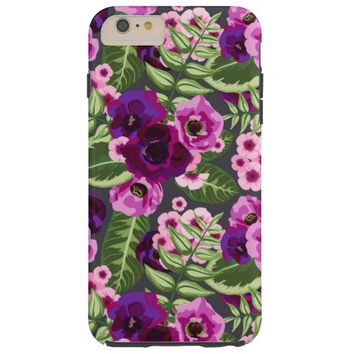 Trendy Vintage Pretty Flower Pattern Tough iPhone 6 Plus Case