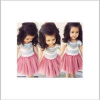 Girls Striped Pink Flurry Dress