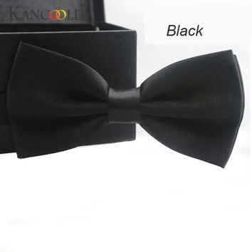 Fashion Bow Ties For Men Bowtie Tuxedo Classic Solid Color Wedding Party Red Black White Butterfly Cravat Brand 14 Colors 50