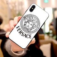 White VERSACE Case For iPhone 6 6s 6plus 6s-plus 7 7plus iphone 8 iphone X XS Max XR