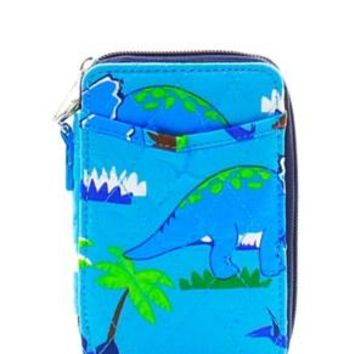 Quilted Wristlet Wallet Dino Print