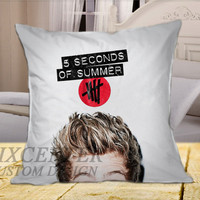 Luke Hemming 5SOS Cover on Square Pillow Cover