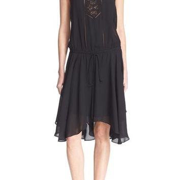 A.L.C. 'Meloni' Lace Inset Silk Dress | Nordstrom