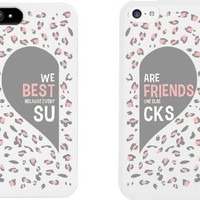 Best Friend Phone Cases - Cute Leopard Print Phone Covers for iphone 4, iphone 5, iphone 5C, iphone 6, iphone 6 plus, Galaxy S3, Galaxy S4, Galaxy S5, HTC M8, LG G3