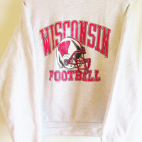 Vintage 1990's Retro Wisconsin Badger Sweatshirt