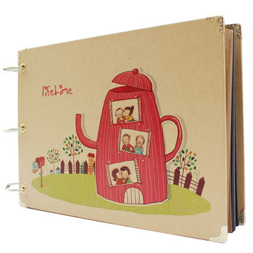 New 10 Inch Photo Album Wedding Photos Children Family Memory Record Scrapbooking Album Sticky Lovers Birthday Gift 10 Pages