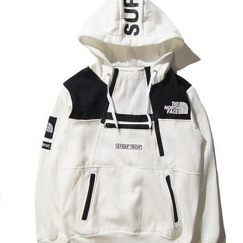 Unisex Lover's Supreme & The North Face Pullover Sweaters Hoodies