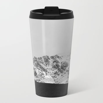 Snowy Mountains Metal Travel Mug by ARTbyJWP