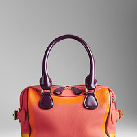 The Mini Bee in Hand-Painted Leather with Patent Trim