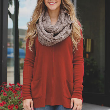 New Beginnings Sweater - Burgundy