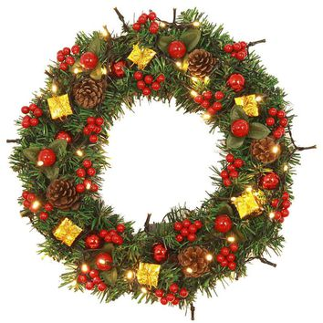 Christmas Door Ornament Large Wreath With Bells