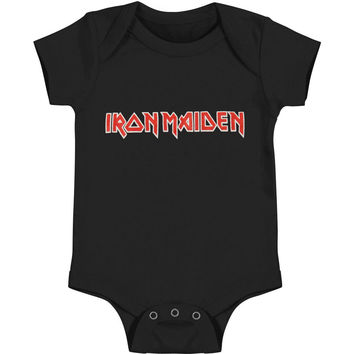 Iron Maiden Boys' Logo Bodysuit Black Rockabilia