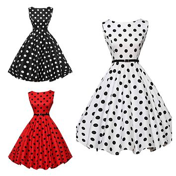 02eb6b5247a Shop Red And White Polka Dot Dress Vintage on Wanelo