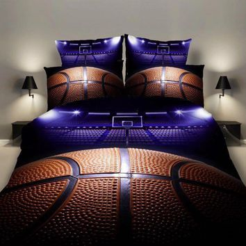 Cool Bedding Sets 2/3pcs 3D Duvet Cover Bed Sheet Pillow Cases Size EU/CN/US Queen King Basketball Drop ShippingAT_93_12