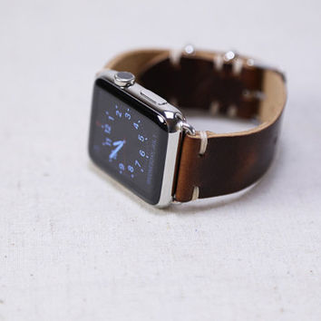 Apple Watch Band Kit Horween Leather Coffee Bean Dublin Polished Hardware