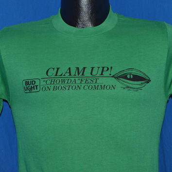 80s Bud Light Clam Up Chowda Fest Boston Common t-shirt Extra Small