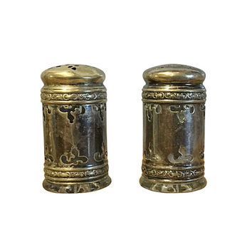 Sterling Salt & Pepper Shaker Set, Vintage Fine Dining Table Decor