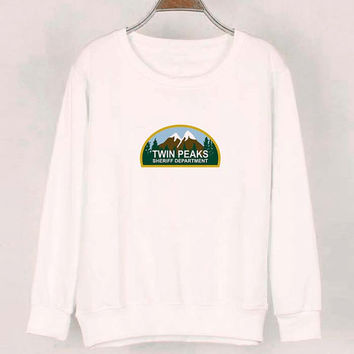 twin peaks sweater White Sweatshirt Crewneck Men or Women for Unisex Size with variant colour