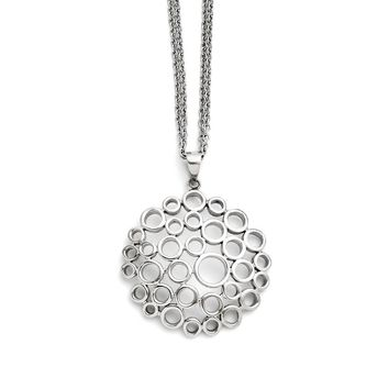 Stainless Steel Multi Circle Pendant Necklaces - 31mm Lobster Claw