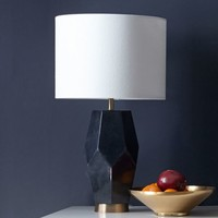 Faceted Stone Table Lamp