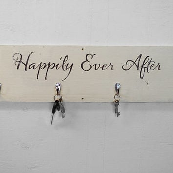 Wall Key Holder - Key Hooks - Entryway Coat Hooks - Coat Rack - Reclaimed Wood Coat Hooks - Entryway Organizer - Bridal Shower - Newly Wed