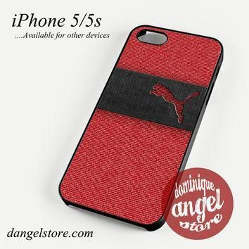puma red jeans texture phone case for iphone 4 4s 5 5c 5s 6 6 plus  number 1