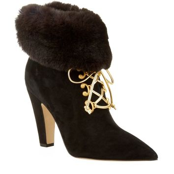 Manolo Blahnik Morfialetto Suede Ankle Boot | Harrods