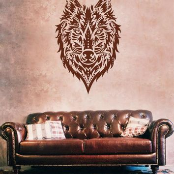 ik1099 Wall Decal Sticker head wolf predator animal forest living bedroom