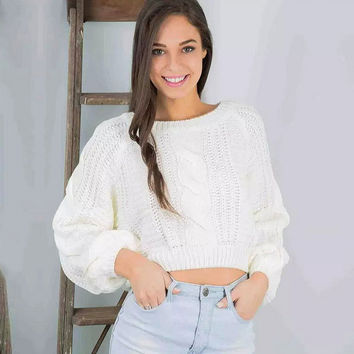 Long Sleeve Knit Sweater Shirt