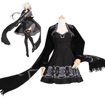 Cool 2018 Game Girls Frontline AUG Cosplay Costume Adult Cute Dress Black Deluxe Suits Fancy Halloween Carnival Uniforms Custom MadeAT_93_12