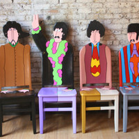 The Beatles Yellow Submarine chairs by FendosArt on Etsy