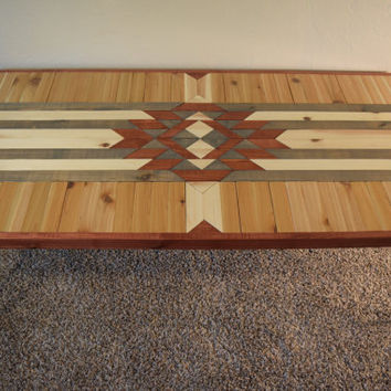 Reclaimed Wood Coffee Table with Hairpin Legs - Handcrafted Southwestern Design Tabletop with Midcentury Modern Legs