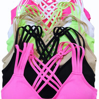 Strappy Sports Bra - Multiple Colors
