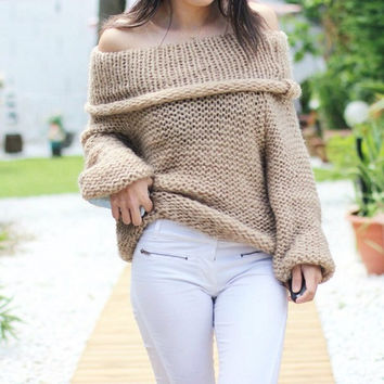 Soft Knit Pastel Sweaters, Off The Shoulder, Many Colors & Sizes available right now!
