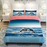 Dolphin bed linen set dekbedovertrek wedding decoration 3D bedding set