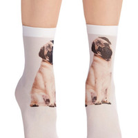 ModCloth Quirky Tabby and You Know It Socks in Pug