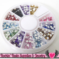 Nail Art Wheel 2mm RHINESTONES 12 Colors